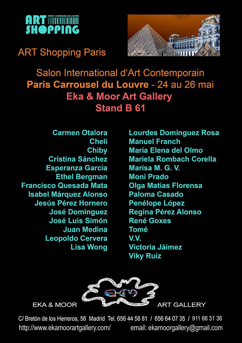 Eka & Moor Art Gallery en el Salon International d'Art Contemporain en el Carrousel du Louvre