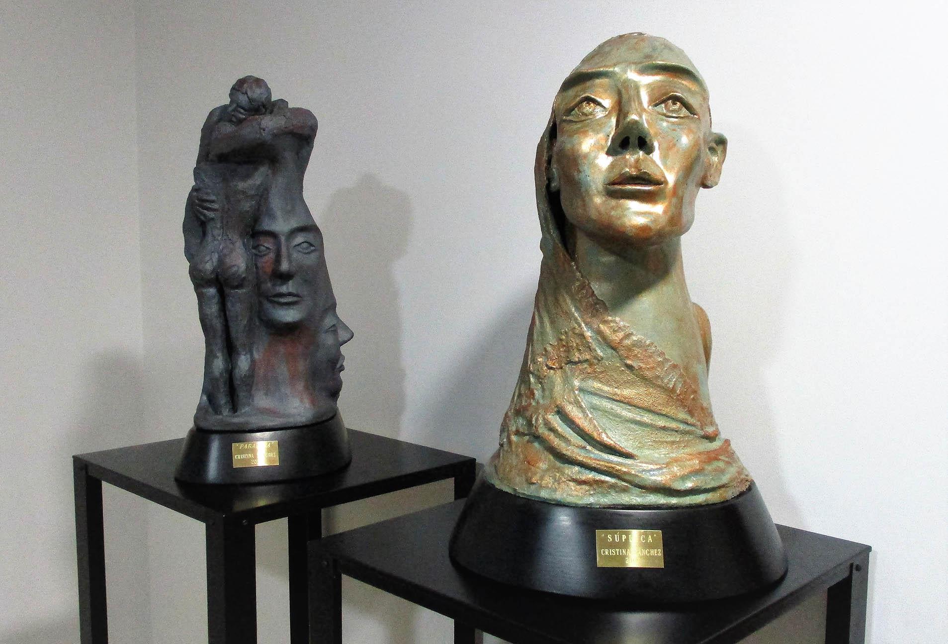 SANCHEZ ESTEVEZ esculturas Paradoja y Suplica año 2019